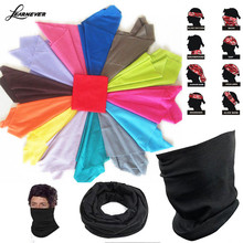 Pure Color Bandana Face Mask Multi Scarf Tube Mask Cap Scarves Sweat Absorbing Riding Supplies Magic Scarf Tube Neck Face D01808