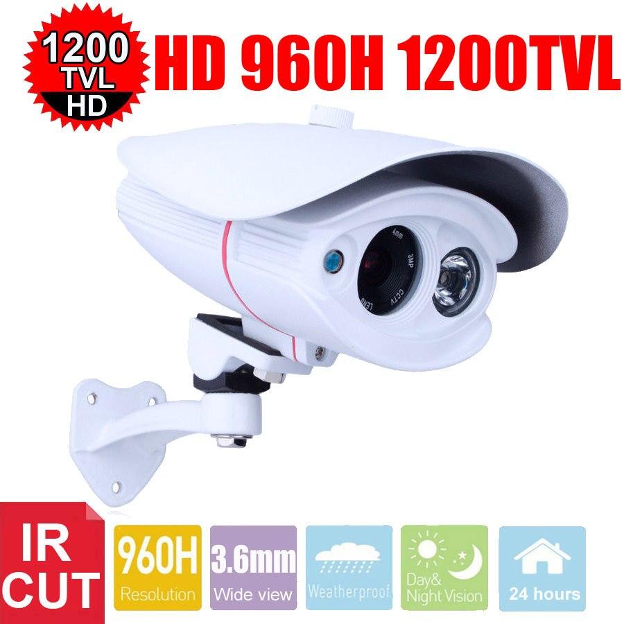 Vanxse Cctv 1/3 Sony Cmos Hd 1 Array Ir-cut 960h/1200tvl 8mm D/N Outdoor Waterproof Bullet Security Surveillance Camera<br>