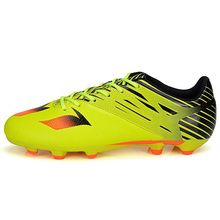 MAULTBY Men's Orange / Yellow AG Sole Outdoor Cleats Football Boots Shoes Soccer Cleats #S31532Y