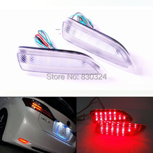 Clear Lens 13-SMD Rear LED Bumper Reflector Lamps DRL for Toyota Lexus CT200h Toyota Corolla as Rear Fog or Brake/Tail Light