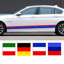 Car-styling 3 colors stripe Car Sticker motorcycle Glue Waterproof Car Sticker For opel vw ford renault kia bmw 15*100cm(China)
