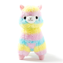 Hot Sale 35cm Rainbow Alpaca Plush Sheep Toy Japanese Soft Plush Alpacasso Baby 100% Plush Stuffed Animals Alpaca Gifts(China)
