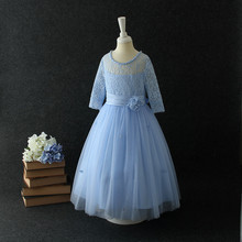 Buy Kids Long Prom Dresses Girls 4-14Y Girl Bridemaids Wedding Dresses Flower Girl Party Dresses Child Princess Costume Clothing for $23.32 in AliExpress store