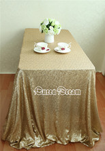 60''x102'' Matte Gold Sequin Tablecloth High Quality Ever Sequin Table Cloth for Wedding/Banquate/Party/Event Decoration