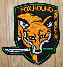 HOT SALE! ~ Metal Gear Fox Hound Special Forces Green Knife Iron On Patches, sew on patch,Appliques, Made of Cloth,100% Quality(China)