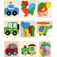 3D Wooden Animal Puzzle Educational Toys Developmental Baby Toy Child Early Training Game