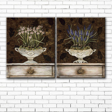 pastoral classical daffodils flower canvas printings oil painting printed on canvas home living room wall art decoration picture(China)