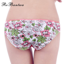 Buy Rebantwa Brand 5pcs/lot Woman Underwear Cotton New Sexy Panties Floral Soft Ladies Briefs Intimates Lingerie Knickers Women