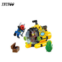 YNYNOO Diving Series Blocks Treasure Hunts Submarine Water motorboat Seabed adventure Lepingoes Building Blocks Toys Best Gifts