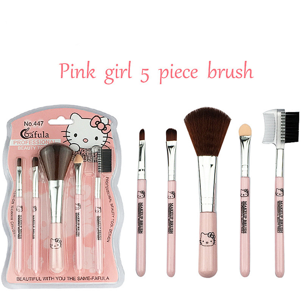 New Hello kitty Five-pack makeup brush pink makeup brush title=