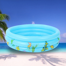 100cm Thickening Inflatable Ocean Ball Pool Multifunctional Child Fishing Pond Sand Pool Tricyclic Round Baby Swimming Pool