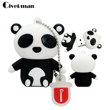 Novelty China Panda USB Flash Drive Cartoon Pen Drive 4GB 8GB 16GB 32GB Pendrive Key Chain Usb2.0 Flash Usb Drives Flash