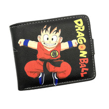 New Arrival Cartoon Wallets With Zipper Coin Pocket ATTACK ON TITAN/DRAGON BALL/ADVENTURE TIME Short Wallet With Card Holder(China)