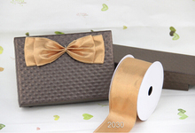 Two tone metallic grosgrain gift wrapping wired edge ribbon 25yards roll
