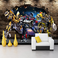 3D Stereo Cartoon Children's Room Wall Murals Wallpaper Eco-Friendly Fiber Decor Wall Coating 3D Colorful Wall Paper Papel Tapiz