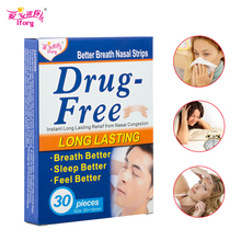 Drop Ship 30 Pieces/Box Better Breath Anti Snore Strips Breathe Right Aid Sleep & Snoring Stop Snore Plaster Nose Health Care(China)