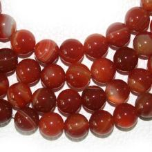 Wholesale Selectable 4 6 8 10 mm Red Stone Beads Round Carnelian Natural Stone Beads For Jewelry Making DIY Bracelet Necklace