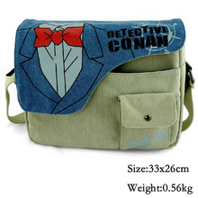Anime Detective Conan Messenger Bag School Bag For Students Kids Children Teenager Canvas Bags