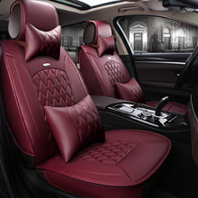 ( Front + Rear ) Special Leather car seat cover For Benz A B C D E S series Vito Viano Sprinter Maybach CLA CLK auto accessories(China)