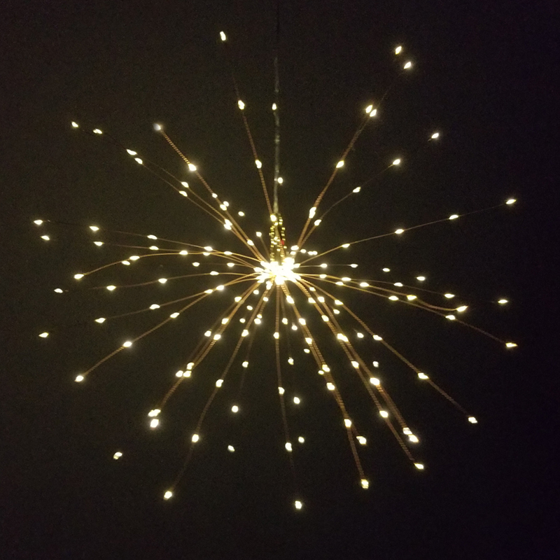 Landscape Lighting DIY Solar Fireworks String Lights for Garden Decoration Bouquet LED String Christmas Festive Fairy Lights Outdoor Solar Lamps,40 Branch 200Led,Warm White Outdoor Lighting
