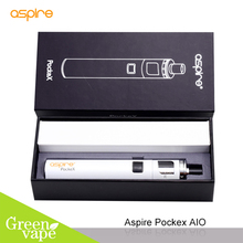 Electronic Cigarette Aspire PockeX Kit Best Mouth to Lung Vapor Starter Kit Pocket Ego Aio Vape Pen with 1500 mah Battery