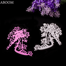 ABOOM Women Shoes High Heel Shoe Cutting Dies Beautiful Carbon Steel Metal Cut Machine Adhesive Card Embossing Foilder For DIY(China)