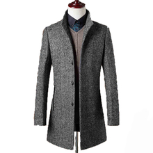 78% Woolen Overcoat Men Brand-Clothing High Quality Mens Wool Coat Men Jacket New Mandarin Collar Mens Coats Overcoats WUJ1157