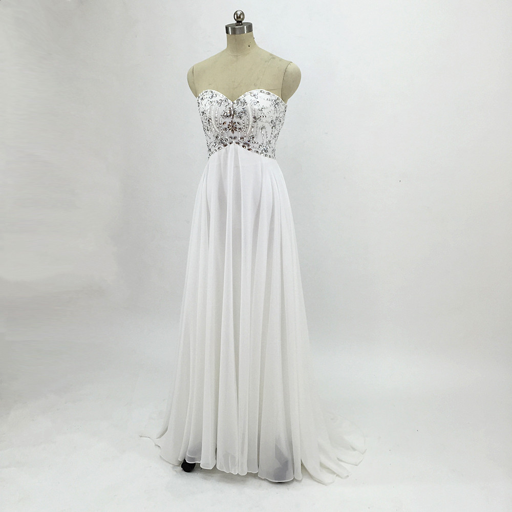 Sexy Chiffon A Line Beach Wedding Dresses Vintage Boho Cheap Bridal Gowns Vestidos De Novia Robe De Mariage Bridal Gown in stock 13