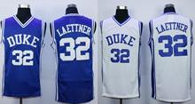 USA Cheap Basketball Jersey Throwback Sleeveless #32 Christian Laettner Duke Blue Devils Retro Stitched Jersey BLUE/WHITE