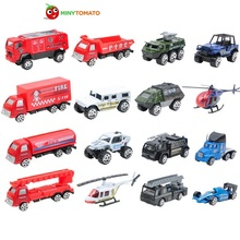 Free Shipping 16in1 Model Alloy Fire Engines Truck Toy Car Children Educational Toys Simulation Model Best Gift  Toys for Boys