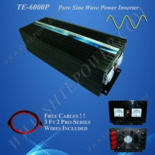 Off Grid Solar Power Inverter, 6000w 24vdc to 120vac inverter, Pure Sine Wave Power Invertor(China)