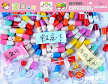 Valentine Gift 1000Pcs/lot Multiple Colors Korean Drama Toy A Millionaire's First Love Pills Toy Capsule Paper Message Pills HOT