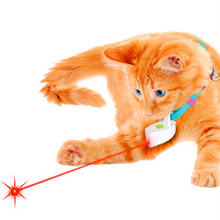 Fashion Mini Collar Laser Toy Light Pet Dog Cat Laser Pointer Cat Toy Plastic ABS Laser Fat Cat Training Toy For Dogs No Collar(China)