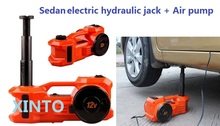 12v electric horizontal multifunctional jack with inflatable pump 3Ton car tire maintenance tool(China)