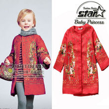 Girls Coats and Jackets 2015 Brand Winter Baby Girls Jackets Flower Print Kids Jackets for Kid Clothes Designer Children Outwear