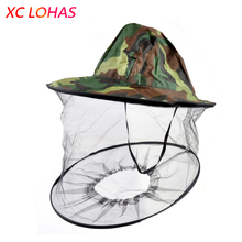 Foldable Mosquito Net Cap Women Men Midge Fly Insect Bucket Hat Fishing Camping Jungle Field Mask Face Protection Cap Mesh Cover(China)