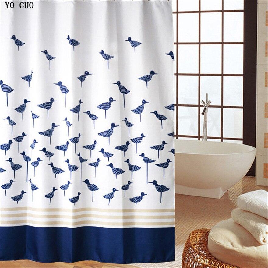 Elegant bathroom shower curtains