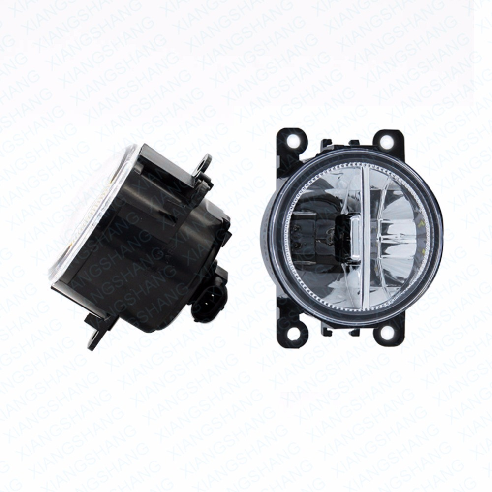 2pcs Car Styling Round Front Bumper LED Fog Lights DRL Daytime Running Driving fog lamps  For Peugeot 307 CC 3B Convertible <br>