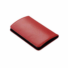 Quality PU Leather Fashion Credit Card Holder PU  Profile Buckle ID Holders Business Card Case Package Organizer For Women Men