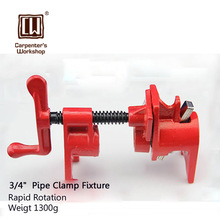 Heavy Duty Pipe Clamp Woodworking German Style Rockler Type 3/4 Inch Pipe Clamp Fixture Carpenter Woodworking Tools