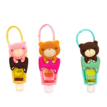 1pcs Cute Teddy Bear Hung Travel Portable Mini Fruit Hand Sanitizer Bathroom Can Hang Hand Sanitizer Washing Liquid Deter Gen