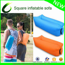 Outdoor lazy Lounger Waterproof Air Filled Balloon Air Bag Nylon Fabric Bean Bag Air Sleeping Sofa Couch inflatable air sofa
