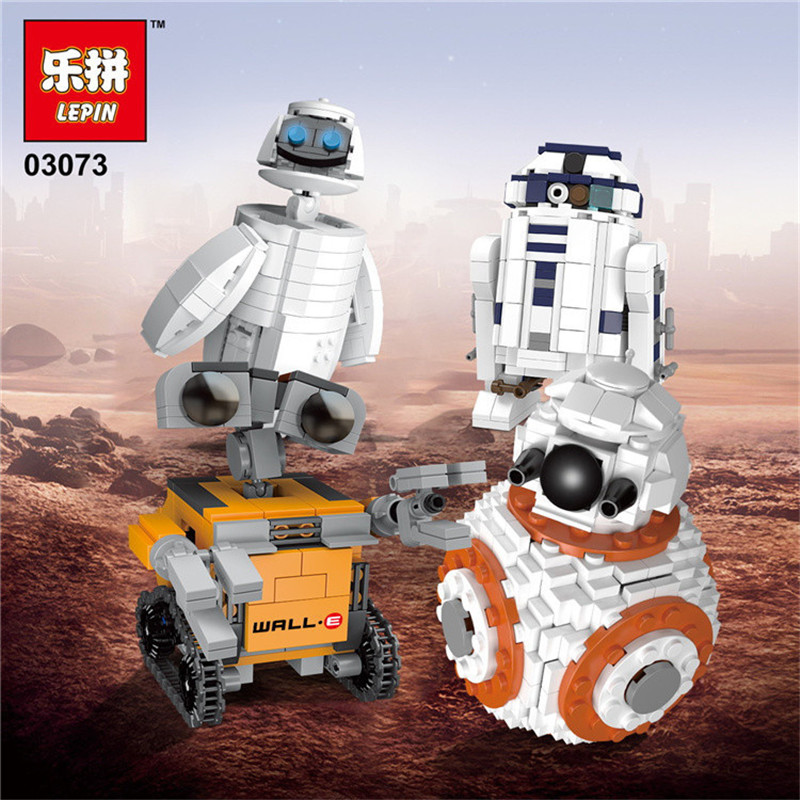 Lepin 03073 Starwars Genuine Movie Series The Four Robots In One Set Building Blocks Bricks Funny Toys As Christmas New Year <br>