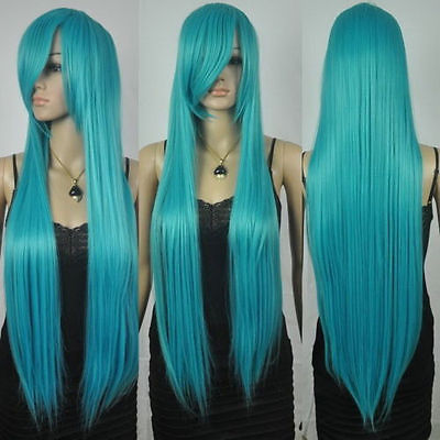 Free Shipping&gt;&gt;&gt;  New extra long straight rapunzel tangled dark turquoise bangs cosplay hair wigs<br><br>Aliexpress