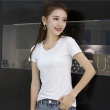 Summer women t shirt Chinese 2017 tops tees women clothing O-Neck white fashion women's T-shirts for Short sleeve(China)