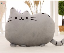 Kawaii Kids Toys Stuffed Juguetes Animal Doll Peluches Anime Plush Toys Pusheen Cat Pillow Cute Brinquedos Skin Without PPCotton(China)