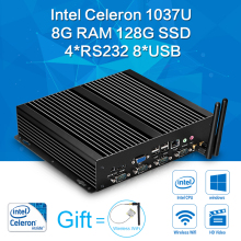 XCY Mini PC Celeron C1037U Mini Computer 2G Ram+32g ssd HDMI+VGA Windows7/8 Linux Industrial Desktop Computer Thin Client