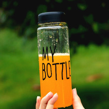Fashion My Bottle 500 ml Plastic Water Bottle Sport Lemon Juice Fruit Drinking Bottle(China)
