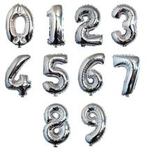 40 Inch Silver Number 0-9 Wedding Foil Balloons Kids Birthday Party Supplies Baby Shower Decorations Event & Party Supplies