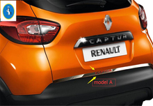For Renault Captur 2014 2015 2016 Stainless Steel Rear Tailgate Trunk Lid Cover Trim 1 pcs(China)